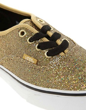 Image 2 ofVans Authentic Gold Glitter Trainers