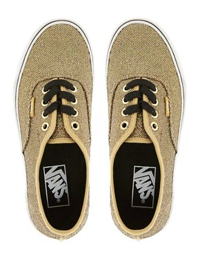 Image 3 ofVans Authentic Gold Glitter Trainers