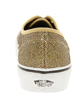 Image 4 ofVans Authentic Gold Glitter Trainers