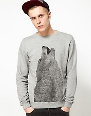 Supremebeing Sweat Crewneck Luna Wolf