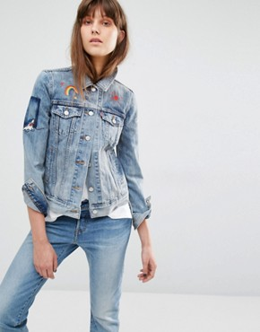 Levi's Embroidered Patch Denim Jacket