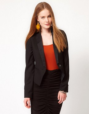 Image 1 ofPOP Cph Wool Blazer With Silk Lapels