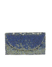 French Connection Sageres Sequin Envelope Clutch