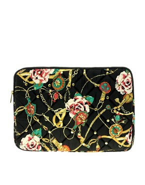 Image 1 ofASOS Quilted Scarf Print Laptop Case