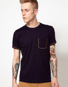 Image 1 ofYMC T-Shirt With Embroidered Pocket