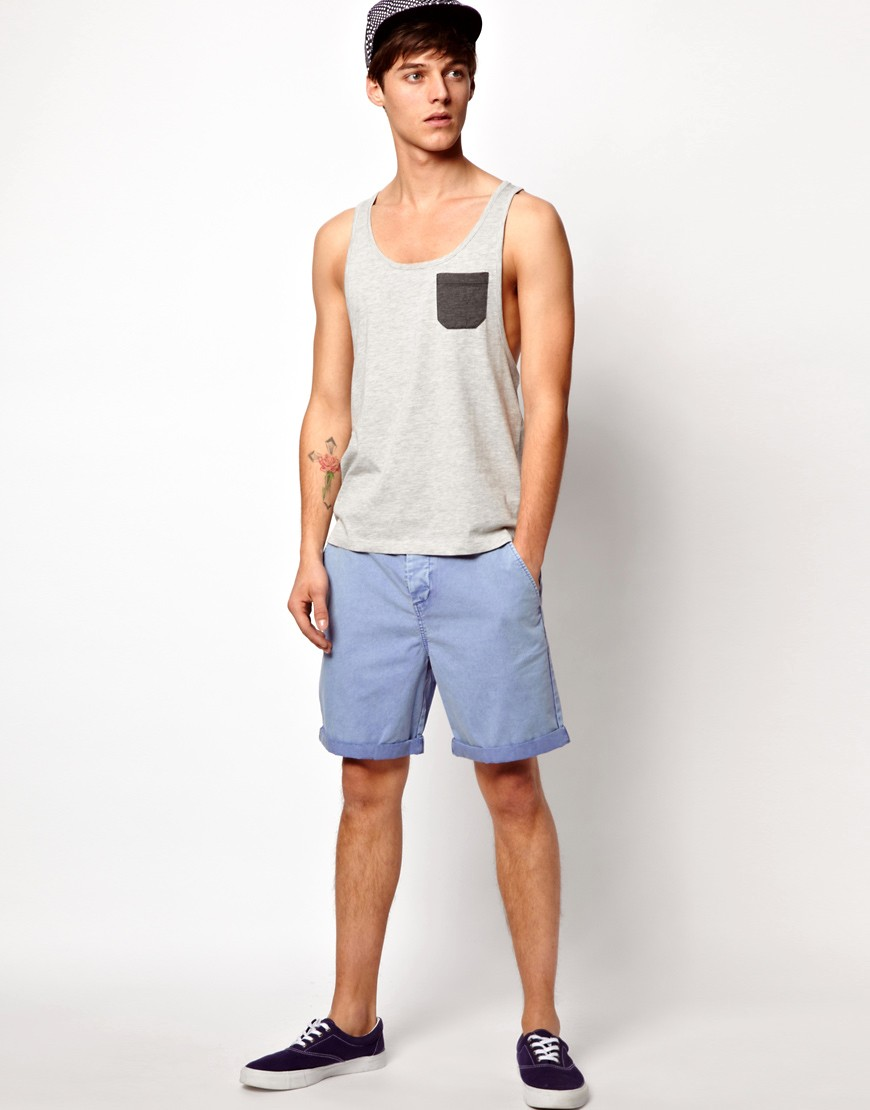 Image 4 of ASOS Vest With Contrast Pocket