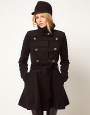 ASOS Premium Military Drop Back Coat