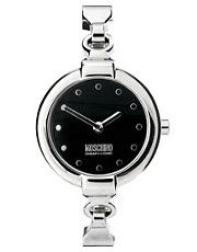 Moschino Ladies Leather and Metal Bracelet Strap Wrist Watch