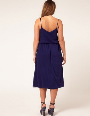 Image 2 of ASOS CURVE Exclusive Midi Dress In Spot Lace