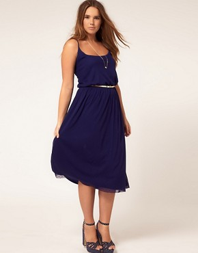 Image 4 of ASOS CURVE Exclusive Midi Dress In Spot Lace