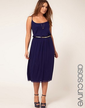 Image 1 of ASOS CURVE Exclusive Midi Dress In Spot Lace
