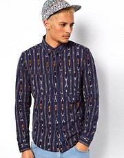 10 Deep Shirt Ikat Nelson Print
