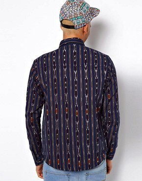 Image 2 of10 Deep Shirt Ikat Nelson Print