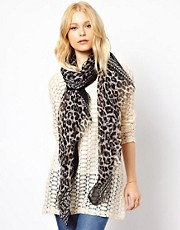 New Look Animal Print Scarf