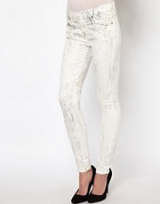 7 For All Mankind Marbled Skinny Jeans