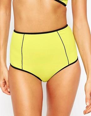 ASOS Mix and Match Contrast High Waist Bikini Bottom