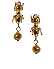 Les Nereides Ant Drop Earrings