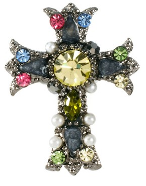 Image 3 ofLimited Edition Cross Brooch Pack with Swarovski Stone