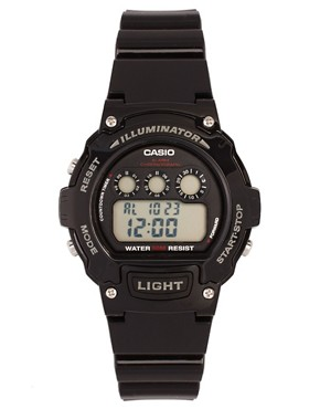Image 1 ofCasio W-214HC-1AVEF Digital Black Strap Watch