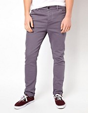 Chinos pitillo de sarga gruesa de ASOS