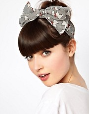 ASOS Dog Print Head Scarf