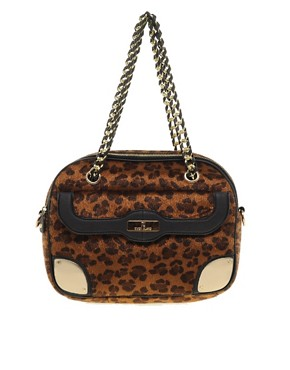 Image 1 ofRiver Island Leopard Box Bag