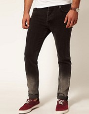 ASOS Skinny Jeans In Dip Dye