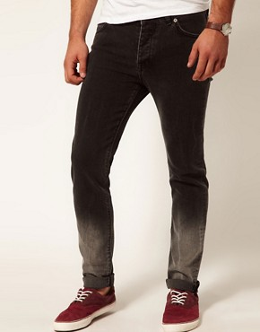 Image 1 ofASOS Skinny Jeans In Dip Dye