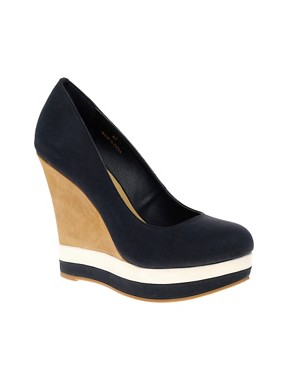 Image 1 of ASOS PANDORA Wedges with Color Block