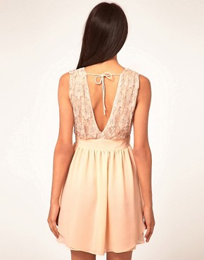 Image 2 ofASOS Skater Dress With Embellished Top