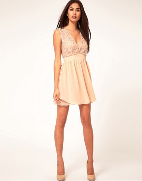 Image 4 ofASOS Skater Dress With Embellished Top