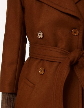 Image 3 ofSonia by Sonia Rykiel Wool Belted Coat with Heavy Knitted Cuff