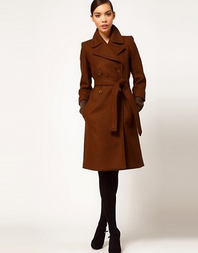Image 4 ofSonia by Sonia Rykiel Wool Belted Coat with Heavy Knitted Cuff