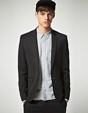ASOS Skinny Fit Black Suit Jacket in Polywool