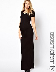 ASOS Maternity Maxi Dress With  T-Shirt Sleeve