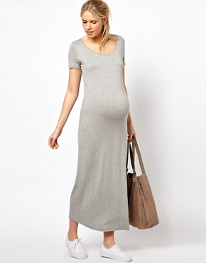 Image 4 ofASOS Maternity Maxi Dress With  T-Shirt Sleeve