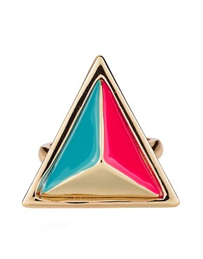 Image 2 ofASOS Enamel Triangle Ring