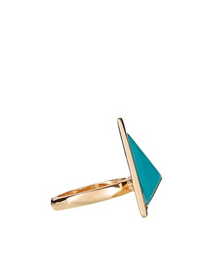 Image 4 ofASOS Enamel Triangle Ring