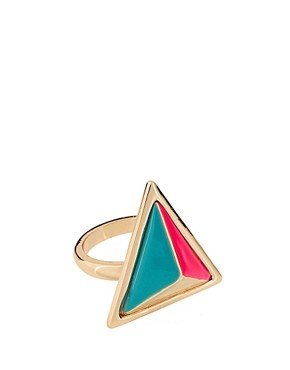 Image 1 ofASOS Enamel Triangle Ring