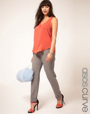 Image 1 ofASOS CURVE Exclusive Smart Jogger