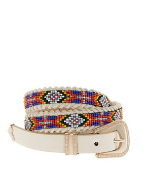 Image 1 ofRiver Island Beaded Tribal Belt