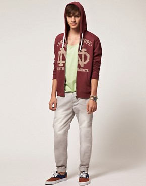 Image 4 ofASOS Hoodie With Varsity Print