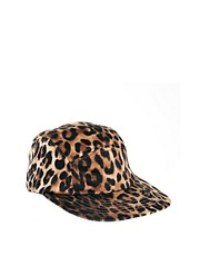 ASOS 5 Panel Cap in Leopard Print