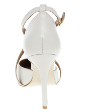 Image 2 ofASOS SIENNA Leather Point Court Shoes with Cross Strap