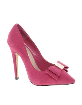 Image 1 ofCarvela Annabelle Pointed Bow Court Shoes