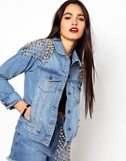The Ragged Priest Studded Denim Jacket