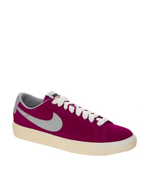 Image 1 ofNike Blazer Low Fuschia Trainers