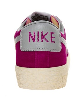Image 2 ofNike Blazer Low Fuschia Trainers