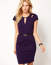 Oasis Cut Out Detail Shift Dress