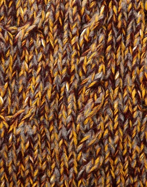 Image 3 ofASOS Mustard and Burgundy Twist Yarn Cable Snood